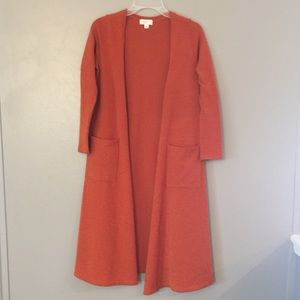 Burnt orange long sweater